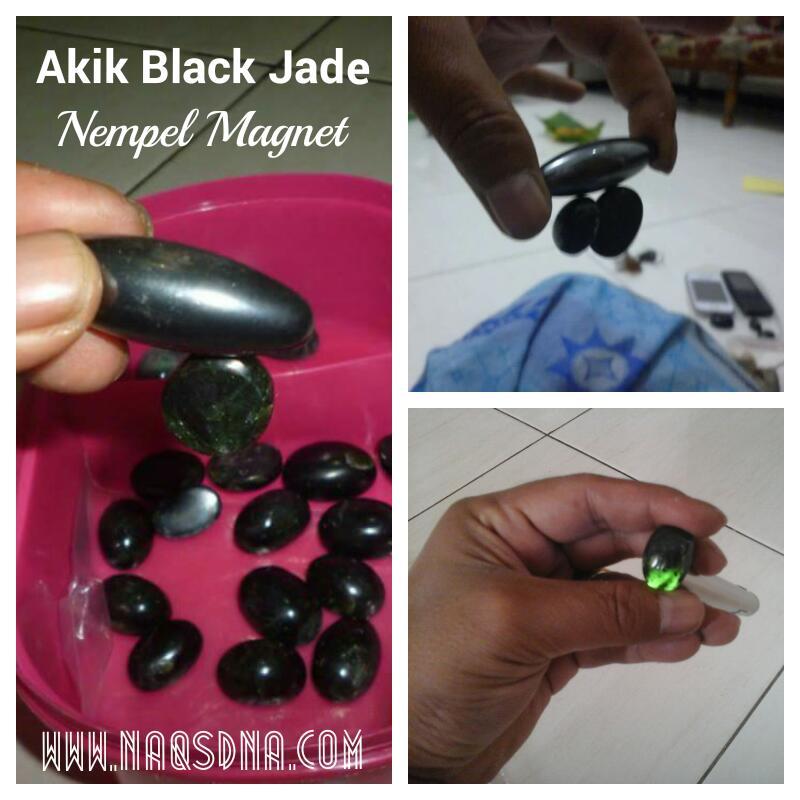 Mustika Giok Hitam Black Jade